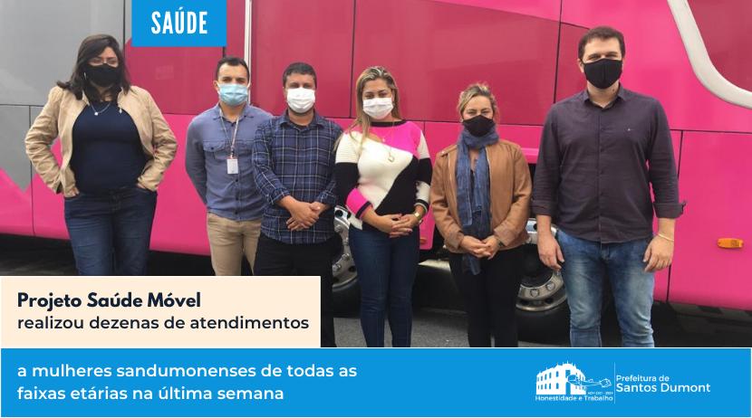 Saúde Móvel realizou dezenas de atendimento a mulheres na última semana