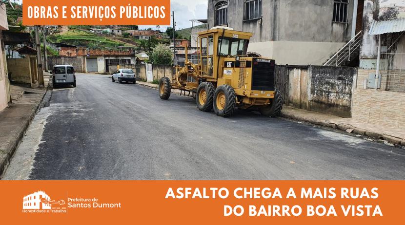 Asfalto chega a ruas do bairro Boa Vista
